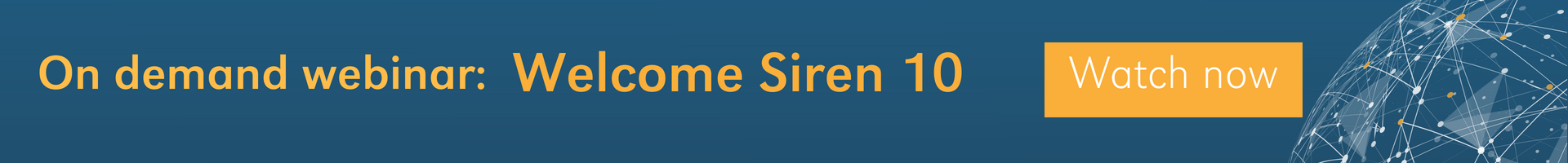 On demand webinar - Welcome Siren 10: Big data joins